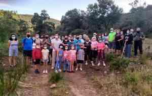 Medio centenar de personas de Villarrubia de los Ojos disfrutaron de la Ruta Jalúa, Senda de Consuegra