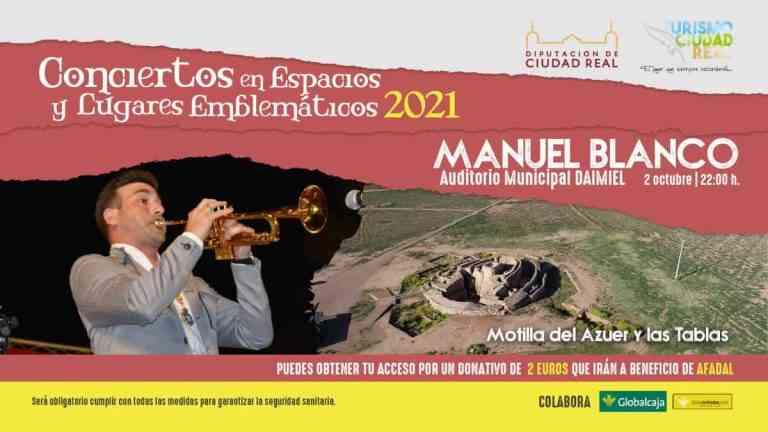 Concierto de Manuel Blanco el 2 de octubre en Daimiel
